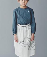 """【 ミナペルホネン 20SS 】YS1074P laula  """"  ブラウス """" / blue gray / 110-140"""