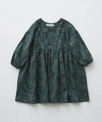 【 eLfinFolk 2019AW 】elf-192F04 ALfaFolk emblem print dress  / green / 90 - 100cm