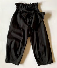【 folk made 2020SS 】#12 pants with ribbon / black / LL(140-155)