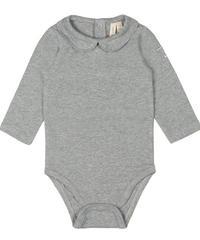 【 GRAY LABEL 2019AW】Baby Collar Onesie / Grey Melange / 9-12m