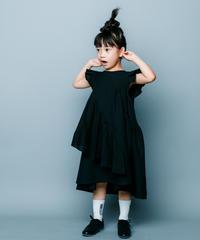 【 nunuforme 2020SS 】スクランブルワンピース [nf13-421-013]  / Black