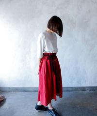 【再生産決定!】【 michirico 2020SS 】MR20SS-12 center slit skirt / レッド / Womens