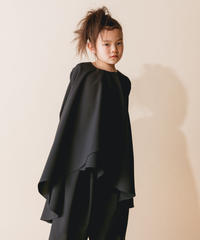 【 nunuforme 2019AW 】nf12-420-009 イレギュラーヘムワンピース / Black / 大人