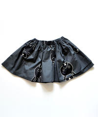 【 franky grow 2019AW 】19FWBT-235 TOTAL HANDLE AIRY SKIRT / DEEP BLACK-BLACK RABBIT