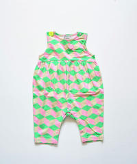 """【 franky grow 2020SS 】19SCS-351 NO SLEEVES ROMPURS """" ロンパース """" / GREEN CUBE"""