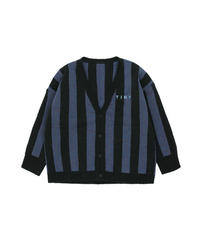 【 tiny cottons 2019SS 】AW19-364 STRIPES CARDIGAN / black/true navy
