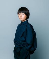 【 nunuforme 2020SS 】サークルシャツ [nf13-545-085]  / Navy