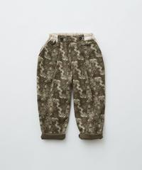 【 eLfinFolk 2019AW 】elf-192F06 ALfaFolk emblem print pants / brown / 80 - 100cm