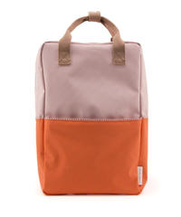 【 Sticky Lemon 】 BACKPACK COLOUR BLOCKING / PASTRY PINK x ROYAL ORANGE x CHOCOLAT AU LAIT / size  L