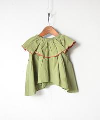 【 folk made 2020SS 】#22 frida-pullover / khaki green / LL(140-155)
