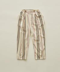 【 eLfinFolk 2020SS 】elf-201F35 regimen stripe pants / ivory