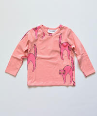 【 mini rodini 2019AW 】19720147  Catz ls tee  / Pink