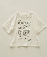【 eLfinFolk 2020SS 】elf-201J08 Maktub T-shirts / white / 110-130cm