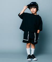 【 nunuforme 2020SS 】バイカラーショートパンツ [nf13-629-088]  / Black