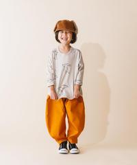 【 nunuforme 2019AW 】nf12-618-005 ヘムタックカーブパンツ / Orange