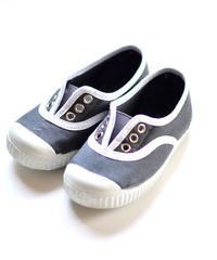 【 La Cadena アーカイブ 】 INGLES ELASTICO P  - White Trim  / DARK GREY / 14〜16.5cm