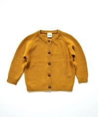 【 FUB 2020SS 】S/S Baby Cardigan / マスタード / 80 / 86cm