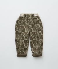 【 eLfinFolk 2019AW 】elf-192F07 ALfaFolk emblem print pants / brown / 110 - 130cm