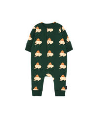 【 tiny cottons 2019SS 】AW19-005 LUCKYPHANT ONE-PIECE / bottle green/light cream