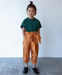 【 folk made 2020SS 】#12 pants with ribbon / brick / LL(140-155)