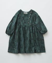 【 eLfinFolk 2019AW 】elf-192F05 ALfaFolk emblem print dress / green / 110 - 130cm