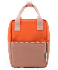 【 Sticky Lemon 】 BACKPACK COLOUR BLOCKING / ROYAL ORANGE x CHOCOLAT AU LAIT x PASTRY PINK / size S