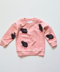 【 mini rodini 2019AW 】19720152  Guinea pig sweatshirt / Pink