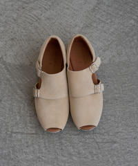 【 UNIONINI 2019SS 】UN02-1 double monk strap shoes / Beige  / 20 - 21cm