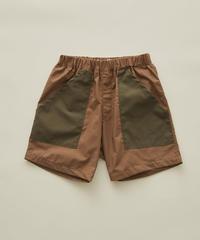 【 eLfinFolk 2020SS 】elf-201F30 typwriter shorts / cocoa / 140-150cm