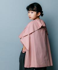 【 nunuforme 2020SS 】ブロードドレープブラウス [nf13-548-001]  / Pink