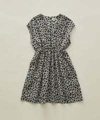 【 eLfinFolk 2020SS 】elf-201F14 leopard dress / gray / 110-130cm