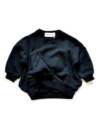 【 UNIONINI 2019AW 】 19AW-TR-020 ◯△ sweat shirt / black / 10 - 14Y