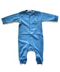 """【 ミナペルホネン 19AW 】XA8986P zutto  """"ロンパース"""" / blue / 70cm"""