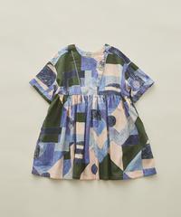 【 eLfinFolk 2020SS 】elf-201F01 Maghreb dress / blue / 90-100cm