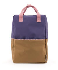 【 Sticky Lemon 】 BACKPACK COLOUR BLOCKING / LOBBY PURPLE x PANACHE GOLD x PUFF PINK / size  L