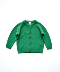 【 FUB 2020SS 】S/S Baby Cardigan / グリーン / 80 / 86cm