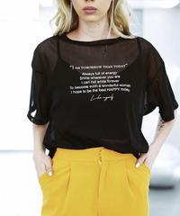 Sheer Message T-shirt