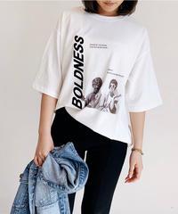 【UNISEX】BOLDNESSフロッキープリントTシャツ