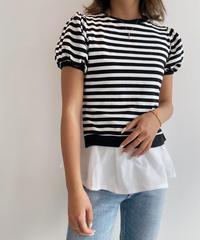 レイヤードパフTシャツ