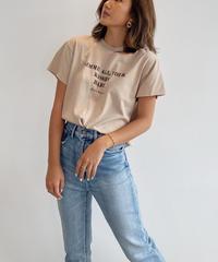 カッティングロゴTシャツ