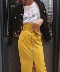 ワイドベルトカラースカート