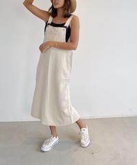 リネンサロペットスカート