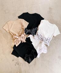【COMINGSOON】SVモノグラムバックリボンリブTシャツ