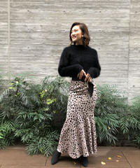 Leopardフリルスカート