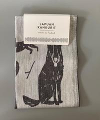 LAPUAN KANKURIT(ラプアン カンクリ)KOIRAPUISTO タオル 69.white black