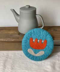 TEA POT&羊毛フェルトPOTマットセット〔ポットグレー〕