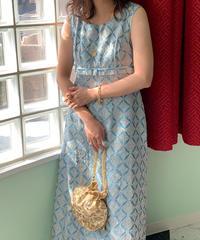 ヴィンテージ  ジャガード織ドレス