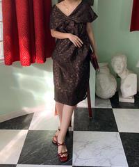 ヴィンテージ ジャガードドレス