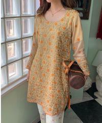 ヴィンテージ  刺繍  チュニックドレス