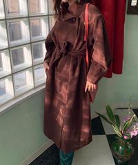 ヴィンテージ ブラウンカラー コート